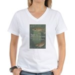 Save the Products of the Land Women's V-Neck T-Shi
