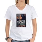 Use Less Wheat Women's V-Neck T-Shirt
