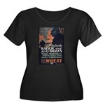 Use Less Wheat Women's Plus Size Scoop Neck Dark T
