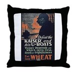 Use Less Wheat Throw Pillow