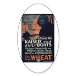 Use Less Wheat Sticker (Oval)