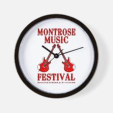 Montrose Music Festival Wall Clock,Scottish