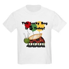 Lucky Bug 5th Birthday T-Shirt