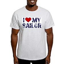 I love (heart) my Sailor Ash Grey T-Shirt
