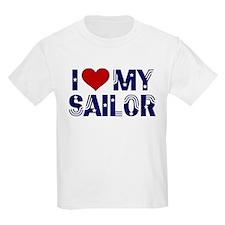 I love (heart) my Sailor Kids T-Shirt