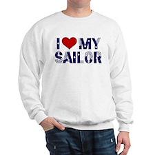 I love (heart) my Sailor Sweatshirt
