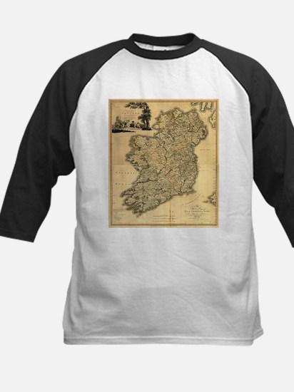 Vintage Map of Ireland (1797) Baseball Jersey