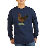 Welsummer Hen Long Sleeve Dark T-Shirt
