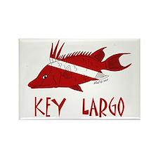 Key Largo Rectangle Magnet