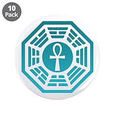 "Dharma Ankh 3.5"" Button (10 pack)"