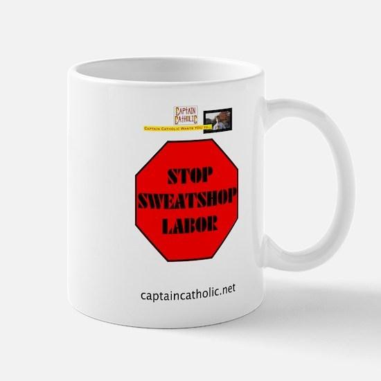 'Stop Sweatshop Labor' Mug