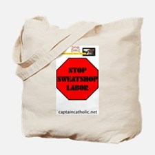 'Stop Sweatshop Labor' Tote Bag