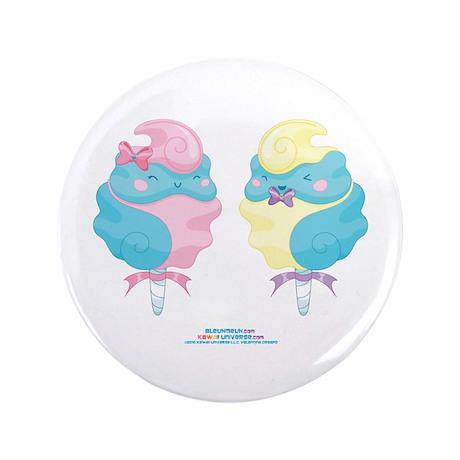 """Kawaii Cotton Candy Couple 3.5"""" Button"""