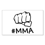 #MMA Sticker (Rectangle 10 pk)