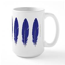 Blue Feather Large Mug
