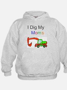 Dig my Lesbian Moms Hoodie