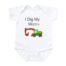 Dig my Lesbian Moms Infant Bodysuit