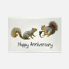 Happy Anniversary Squirrels Rectangle Magnet