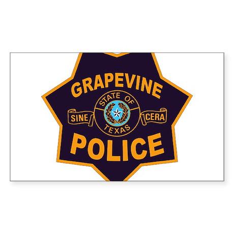 Grapevine Police Sticker (Rectangle)
