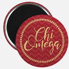 Chi Omega Circle Magnet