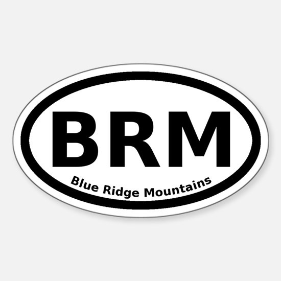 Blue Ridge Mountains Euro Sticker (Oval)