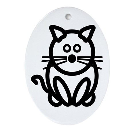 Just The Cat Oval Ornament