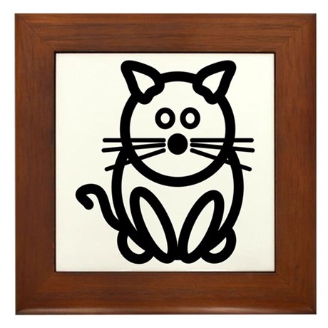 Just The Cat Framed Tile
