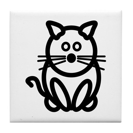 Just The Cat Tile Coaster