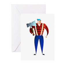 Lumberjack Greeting Cards (Pk of 10)