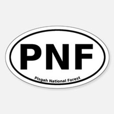 Pisgah National Forest Euro Sticker (Oval)