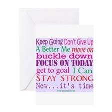 Inspirational Words Greeting Card