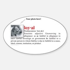 Definition of Loyal Oval Decal