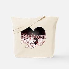 Twilight Newborn Heart Flowers by Twibaby Tote Bag