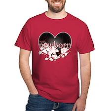 Twilight Newborn Heart Flowers by Twibaby T-Shirt