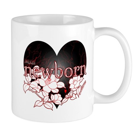 Twilight Newborn Heart Flowers by Twibaby Mug