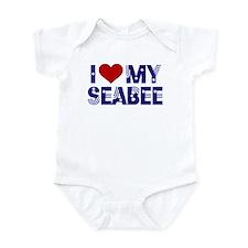I love (heart) my Seabee Infant Creeper