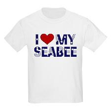 I love (heart) my Seabee Kids T-Shirt