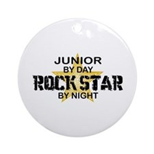Junior Rock Star by Night Ornament (Round)