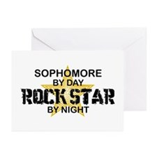 Sophomore Rock Star by Night Greeting Cards (Pk of