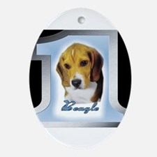 Number 1 Beagle Oval Ornament