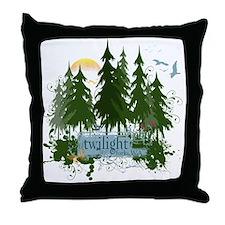 Twilight Forks WA Throw Pillow
