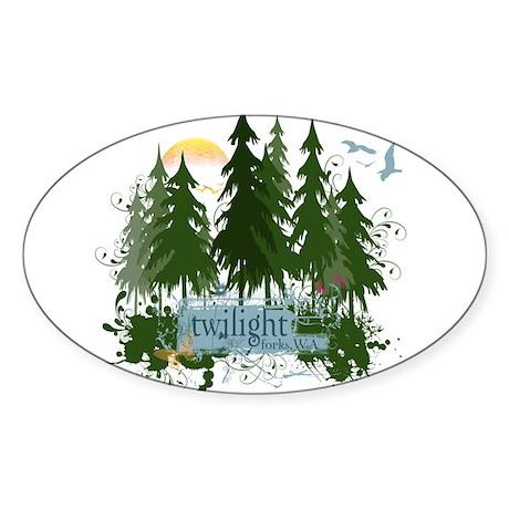 Twilight Forks WA Sticker (Oval 10 pk)