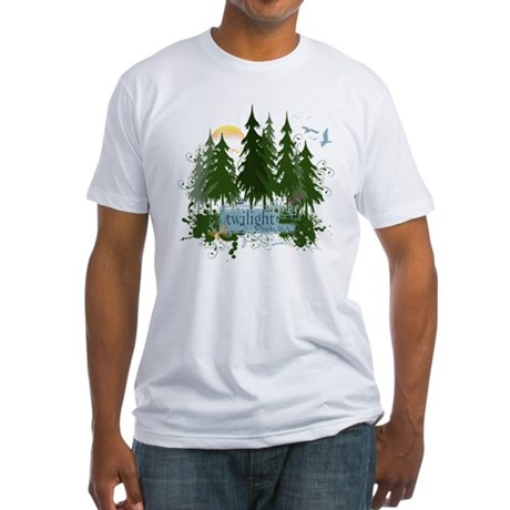 Twilight Forks WA Fitted T-Shirt