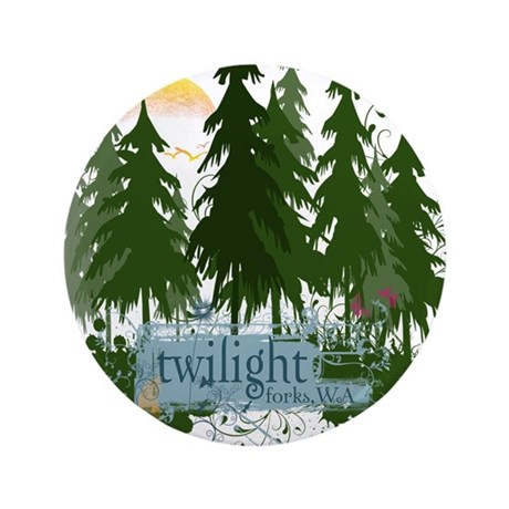"Twilight Forks WA 3.5"" Button (100 pack)"
