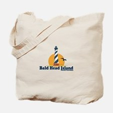 Bald Head Island NC - Lighthouse Design Tote Bag