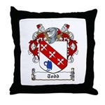 Todd Family Crest Throw Pillow