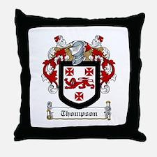 Irish Thompson Family Crest Throw Pillow