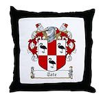 Tate Family Crest Throw Pillow