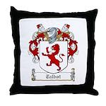 Talbot Family Crest Throw Pillow