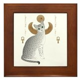 Egyptian mau Framed Tiles